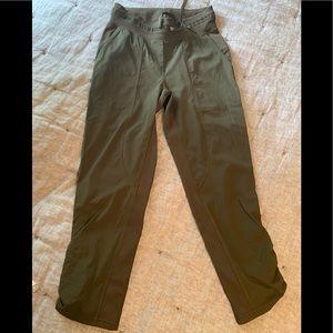 Lululemon cropped pants size 4. Olive green new